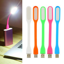Ultra Bright 1.2W LEDs USB lamp for Notebook Computer Laptop PC Portable Flexible metal Neck LED USB light foldable(China)