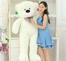 100cm/1m cute big teddy bear white plush stuffed toys kid baby dolls birthday valentine's gift for girls lowest price LLF