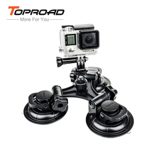 Go Pro Accessories Car Windshield Triple Vacuum Suction Cup 9cm for GoPro Hero 4 Action Camera