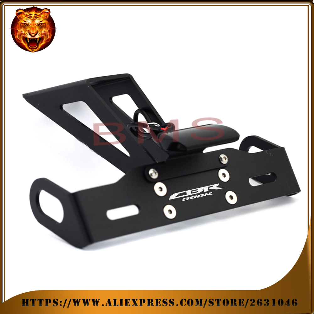 Motorcycle Fender Registration License Plate Frame TailLight LED Holder Bracket For HONDA CBR500 CBR500R 2017 16 FREE SHIPPING<br>