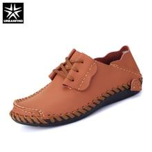Men Leather Shoes Casual 2017 Autumn Fashion Shoes Men Designer Shoes Casual Breathable Big Size 39-50 Mens Shoes Comfort