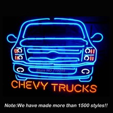 Automobile Chevy Trucks Neon Sign Neon Light Sign Store Display Glass Tube Design Guarantee Handcrafted Beer Signs Lighted 24x20(China)