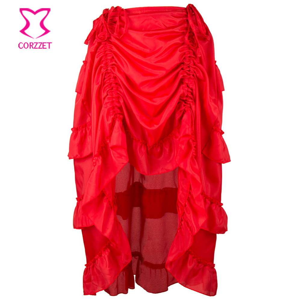 Red Chiffon Ruffle Pleated Trim   Crafts//Costume//Victorian//Goth//Corsetry