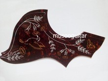 "2 Pcs Black 41 "" Hummingbird Flower Folk Acoustic Guitar Pickguard Pick Guard Anti-scratch Plate (A025D)"