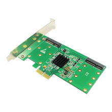 4 mSATA SSD PCI-e 2.0 Hybrid Controller Card RAID0 RAID1 RAID10 Marvell HyperDuo PCI express flash solutions databases(China)