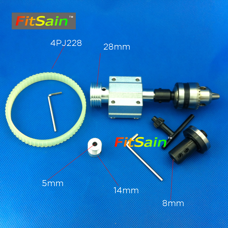 FitSain-hole 5mm pulley B12 drill chuck 1.5-10mm Cutting saw part Pulley mini Lathe table saw blade hole 16mm/20mm <br>