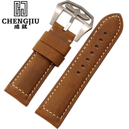 Vintage Crazy Horse Leather Replacement For Panerai 24 mm Clock Mens Watchband Male Wrist Watches Band Watchbands Straps Belt<br>