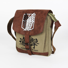 2017 new style anime game shoulder bag canvas material anime bag Attack on titan bag ab223-3