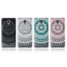Trendy Soft Silicon Patterned Cover For Lenovo Vibe P2 Transparent Ultra Thin TPU Soft Shell Etui Mandala Colourful Phone Cases(China)