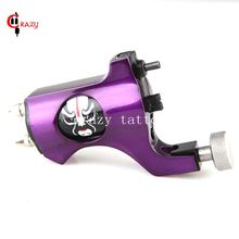 Crazy Newest Style Bishop Rotary Tattoo Machine Purple Colors Tattoo Tachine For Liner and Shader Free Shipping