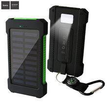 Solar Power Bank Waterproof Powerbank Dual USB Sun Charger LED Light Mobile Charger Outdoor Phone Charger External Battery 12000