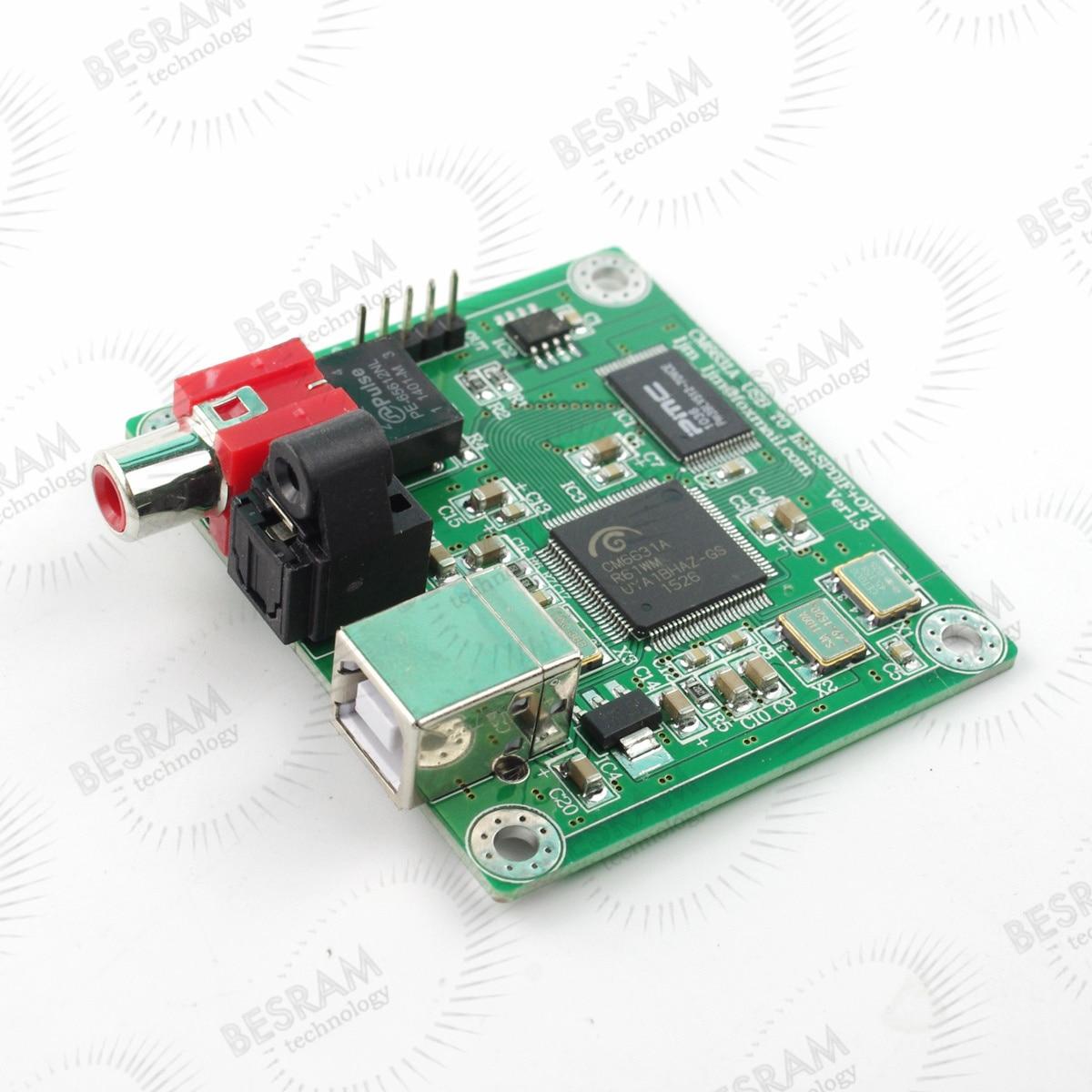 24bit/192khz USB to Coaxial/Optical fiber SPDIF I2S Converter DAC Board CM6631A<br><br>Aliexpress