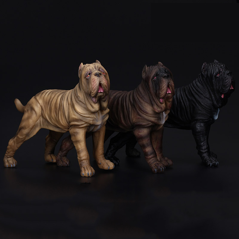 MASTIFF Dog HAND PAINTED FIGURINE Resin Statue COLLECTIBLE English Puppy NEW