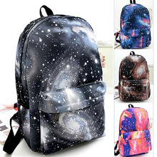 Unisex Galaxy Space Backpack Travel Rucksack Canvas Book Storage School Bag(China)