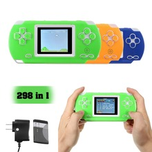 2018 New 298 in 1 Handle FC Video Game Console 2.5inch Color T FT Screen Hand Game Player Re chargeable Boy Children Gift(China)