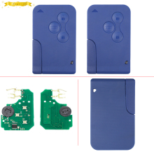 KEYECU Blue Color Remote Key Fob 3Button 433MHz PCF7947 for Renault Megane Scenic Clio(China)