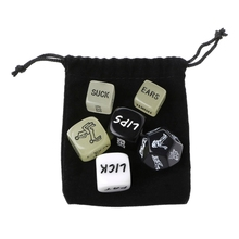 OOTDTY 6 PCS Fun Acrylic Dice Love Dice Sex Dice Erotic Dice Love Game Toy Couple Gift(China)