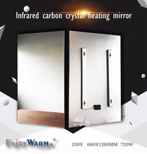 600*1200mm 720W Free Shipping mirror best selling far infrared heater panel(China)