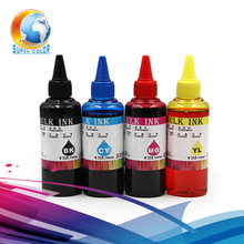 supercolor 100% Genuine Ink 4 pieces/lot For EPSON B40W/500/600/S22/TX125/SX125/320 sublimation ink--100ml volume(China)