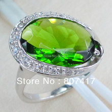 SHUNXUNZE Rave reviews The new product Peridot Cubic Zirconia Silver Plated Vintage Ring R807 sz# 6 7 8 9 Hyperbole Panic buying