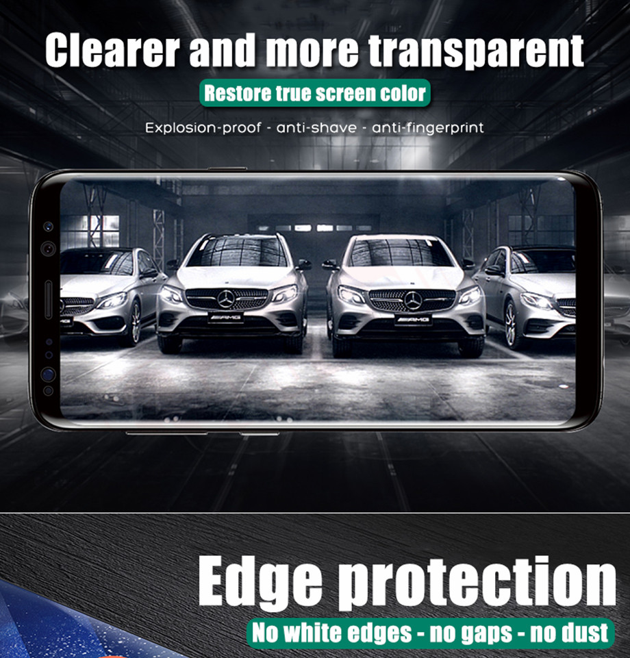3-PC-For Samsung Galaxy S8 Screen Protective Edge Film For Samsung S9 Plus  Screen Protector