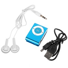 8 Colors Protable Mini Mp3 Music Player Mp3 Player Support Micro TFCard Slot USB MP3 Sport Player USB Port With Earphone(China)