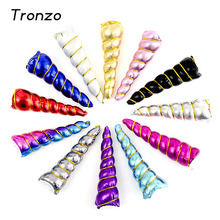 Tronzo 5Pcs/set Glitter Unicorn Horn Headwear For Girls Kids Headband Accessories DIY Hair Decorative Birthday Party Easter Gift