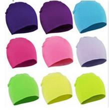 2016 New Spring Autumn Warm Cotton Baby Hat Girl Boy Toddler Infant Kids Caps Brand Candy Color Lovely Baby Beanies Accessories