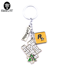 Hot Game PS4 GTA 5 keychain Grand Theft Auto 5 Key Chain X-box For Fans gifts PC Rockstar Key Holder Jewelry accessories