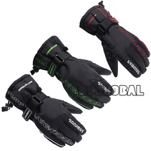 Hot Winter Motorcycle Gloves Racing Waterproof Windproof Leather Cycling Bicycle Cold Guantes Moto Luvas Ski Racing Glove(China)