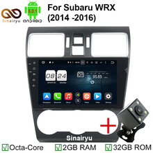 Octa Core1024*600 Android 6.0 Car DVD GPS Navigation Player Car Stereo for Subaru Forester 14-16 Deckless Steering Wheel Control