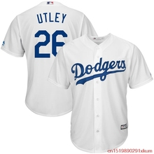 MLB Men's Los Angeles Dodgers Chase Utley #26 Stitched Baseball White Home Cool Base Player Jersey(China)