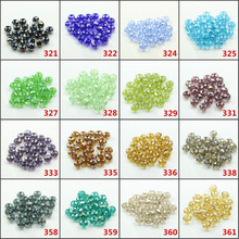 Berloques Plastic Round Beads10MM 72PCS/LOT AB Color Rondelle New Semi Crystal Glass Wheel Beads Accessories-For-Jewelry