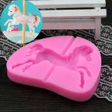 Carousel Horse Silicone Mold Fondant Cake Decorating Tools Chocolate Baking Chocolate Moulds Soap Mold DIY molde de silicone