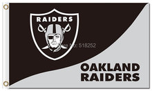 Oakland Raiders logo and wordmark Flag  3x5 FT 150X90CM NFL Banner 100D Polyester Custom flag grommets 6038,free shipping
