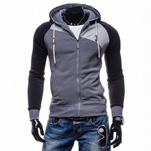 LaMaxPa 2017 Fashion Brand Sweatshirts Men zipper Hoodies Patchwork Slim Men's Sportswear Men Coat XXL(China)