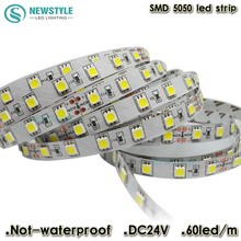 DC24V led strip 5050 SMD 5M 300led 60led/M white/Warm white/Cool white  flexible led ribbon non-waterproof indoor decoartion