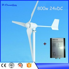 Combine with solar panel 2.5m/s start-up wind speed three phase 3 blades 800W 48VDC wind turbine generato on sale for home use