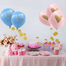 12pcs/lot baby shower balloons its a boy it's a girl oh baby printed ballons babyshower decorations party supply(China)