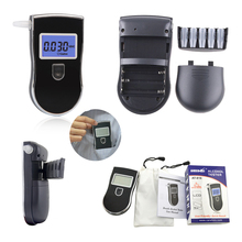 Hot ! Prefessional Police Digital Breath Alcohol Tester Breathalyzer Portable Detector LCD Display Alcohol Tester Free shipping(China)