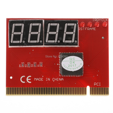 LED 4-Digit Computer Analysis Diagnostic Tester POST Card PCI PC Analyzer Motherboard RED(China)