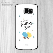 1pcs Authentic like the sound od falling rain Durable Phone Case Cover for Samsung S3 S4 S5 S6 S6 Edge Note2 Note3 Note4 Note5