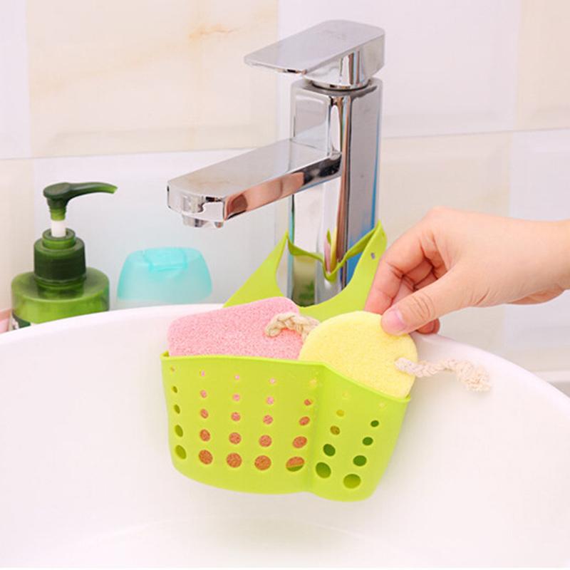 E-SHOW-Kitchen-Sink-Shelving-Bag-Dish-Cloths-Storage-Rack-Suction-Sponge-Hanging-Basket-Drain-Holder