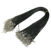 hot leather cord rope chain necklace DIY jewelry accessories free delivery