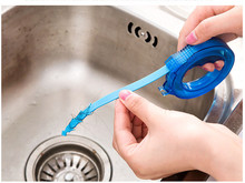 Expandable sewer hair cleaning device sink anti clogging cleaning hook toilet dredge