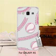 Colourful Style Design Plastic PC Cell Black Phone Case For  A5 2015 case  Play Baseball Laces