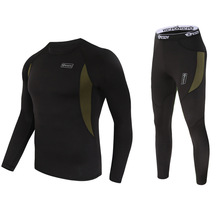 Top quality new thermal underwear men underwear sets compression  fleece sweat quick drying thermo underwear men clothing