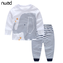 Buy NWAD Baby Boy Clothes Infant Baby Boy Clothing Sets Newborn Elephant print Long Sleeve Tops+Striped Pants 2017 Autumn FF013 for $5.99 in AliExpress store