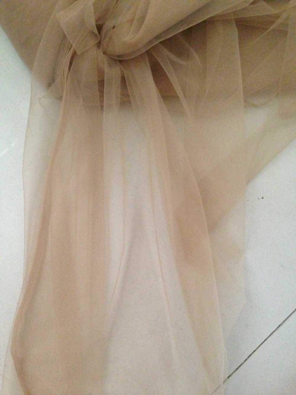 skin nude,160cm width 2meter/lot super soft mesh tulle sheer for DIY wedding dress,veil, curtain, petticoat, tutu, decoration(China (Mainland))