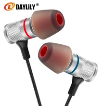 Daylily headphones music fone de ouvido Mobile phone auriculares Headset mp3 computer bass Earphone Fashion metal headphones(China)